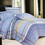 Screenes Worth Having Blue Peach Muster Winter Flanell Verdickung Nickerchen (Einfacher Stil Größe 180 * 200Cm) Schlafzimmer Bettwäsche Home Dekoration (Color : Q, Size : 150x215Cm)