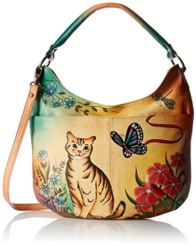 anuschka-handpainted-leather-convertible-hobo-cat-one-size