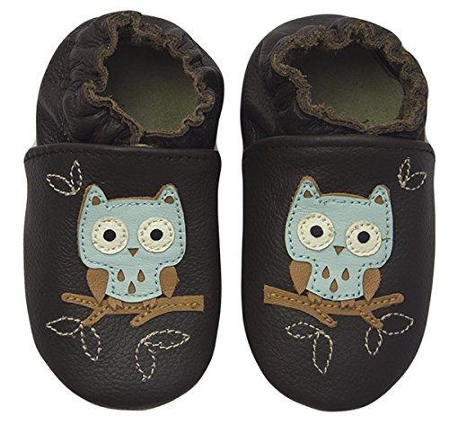 Rose & Chocolat Chaussures Bébé Night Owl Marron
