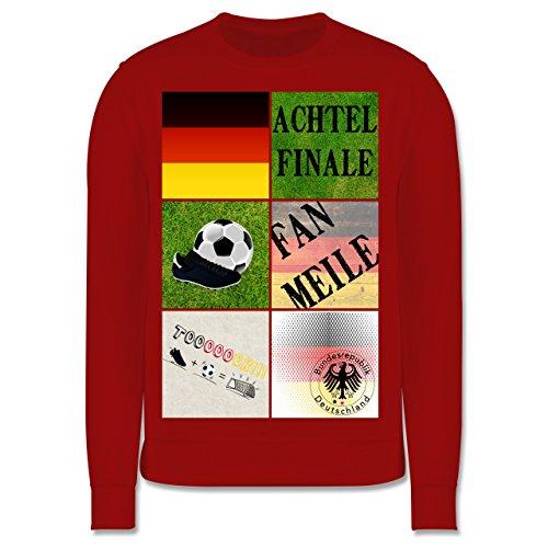 Fußball-Europameisterschaft 2020 Kinder - Deutschland Achtelfinale Fan Shirt - 128 (7/8 Jahre) - Rot - JH030K - Kinder Pullover