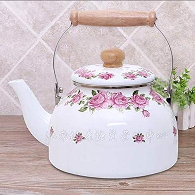 Bouilloire Émaillée Bouilloire Théières 2,6 L Pot À Émail De Fleurs Roses Pot Émaillé À La Maison Bouilloire Théière Émaillée Pot À Émail
