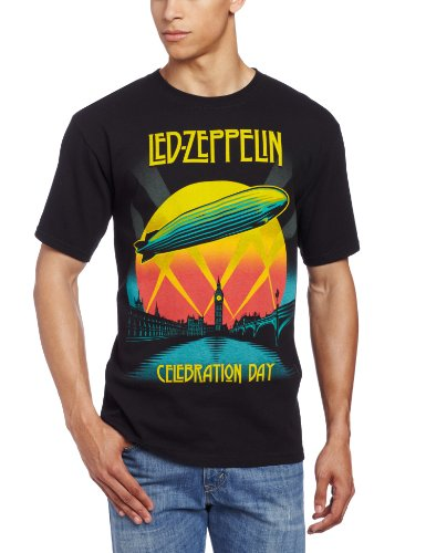 Fea Merchandising - Camiseta - Hombre de color Negro de talla Large - Rockabilia Led Zeppelin Celebration Day (Camiseta) Large Nero