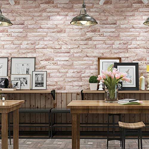 Lyx1,carta da parati retro nostalgic brick pattern wallpaper living room tv sfondo muro cafe restaurant