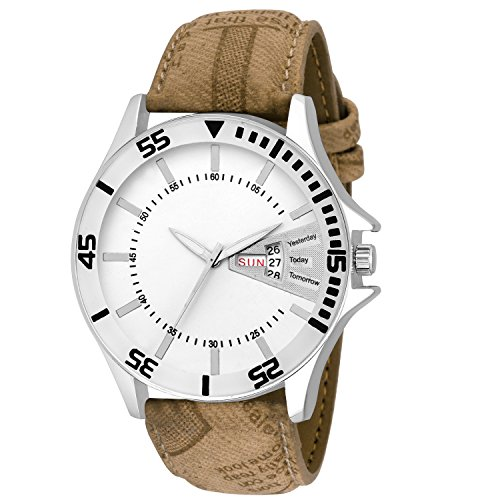 Dervin Fashion Analog White Dial Dated Men's Watch