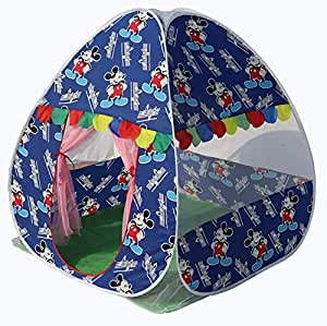 Homecute Foldable Popup Kids Play Tent House for 1 Year to 12 Years 110 x 110 x 120 cm Printed - Deep Blue