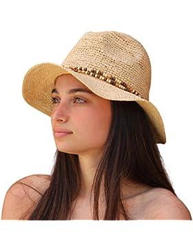 Palms & Sand Sombrero de Raffia Sun de las mujeres de Belice (natural)