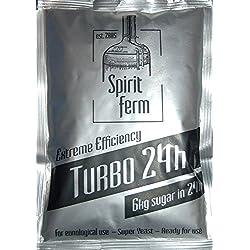 LEVURE RAPIDE - TURBO 24h 195g - Distillateurs Levure Turbo Levures Alcotec Paquets Extrême Pureté Homebrew Vodka Gnôle Alcool