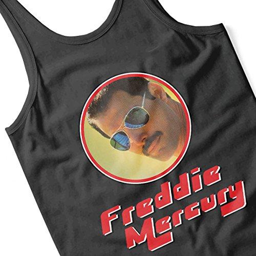 Freddie Mercury Aviator Retro Photo Frame Women's Vest Black