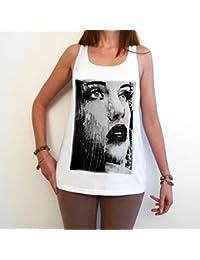 City Face 2 T-Shirt Femme photo de star,Blanc, t shirt femme,cadeau