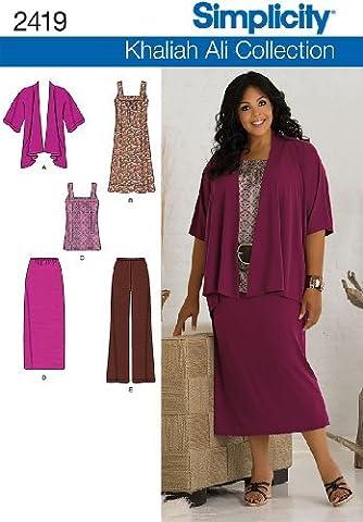 Simplicity Khaliah Ali Collection Pattern 2419 Women's Pants, Skirts, Dress