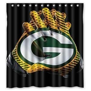 Custom Green Bay Packers Waterproof Fabric Bathroom Shower Curtain 66x72 By Generic Shower
