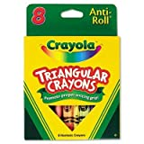 Crayola LLC Products - Triangular Anti-roll Crayons, Nontoxic, 8/BX, Assorted - Sold as 1 BX - Crayola Triangular Anti-roll Crayons are ideal for student art projects. Triangular design prevents the crayons from rolling off desks and makes it easy for students to get a grip on proper writing habits. Great for classroom and home use. Inside the box is a reusable, durable tray and clear plastic lid for ease of storage and distribution in the classroom. Nontoxic. by BINNEY & SMITH / CRAYOLA