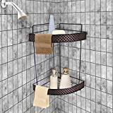 TIED RIBBONS Metal 2 Tier Shower Caddy Storage Wall Shelf Organizer (37x35cm)
