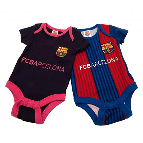Official Football Merchandise Baby Jungen (0-24 Monate) Schlafstrampler Gr. XL, FC Barcelona (Body Jersey Knit)
