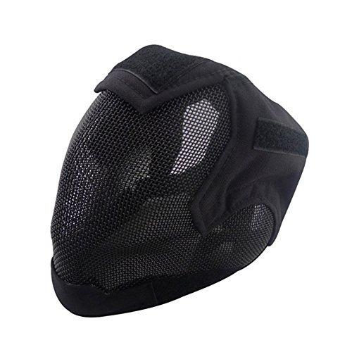 V6Paintball-Maske, Stahl-Netzstoff, für das ganze Gesicht (schwarz) -