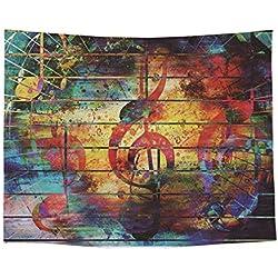 Baisheng Indiano Mandala Parete Appeso arazzo Hippie arazzi Letto copriletto, Foglio Spiaggia PIC-nic, tovaglia, Parete Decorativa appesa (Muro di Musica- 59x78 Inch/150x200 CM)