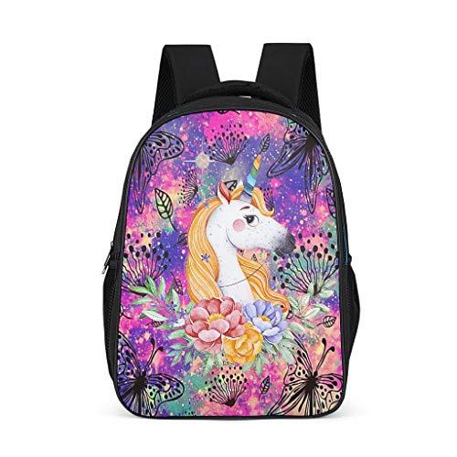 Goldenes Haar, Einhorn-Rucksack für Mädchen, modische Wasserflasche,