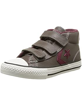 Converse Star Player 3V Leather Mid - Zapatillas de Deporte de cuero Infantil