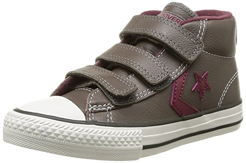 Converse Star Player 3V Leather Mid, Baskets mode mixte enfant