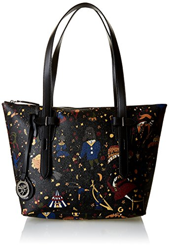 Piero Guidi Magic Circus Borsa Tote, 28 cm, Nero