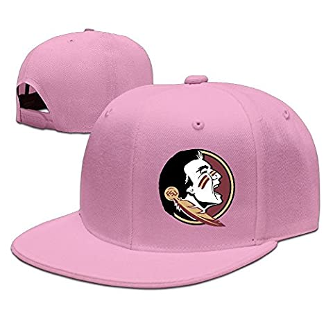 Huseki SSEE Unisex Florida State University Seminole Snapback Baseball Hats Caps Natural Pink