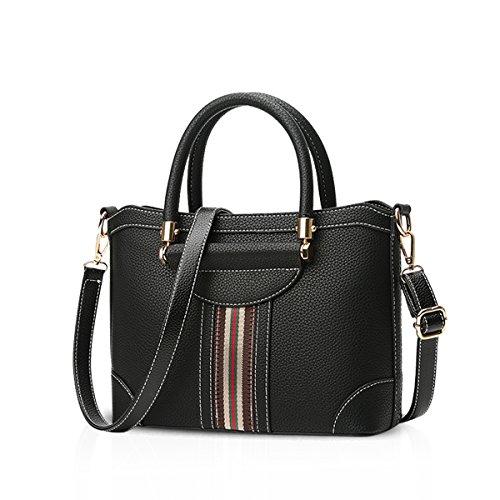 NICOLE&DORIS Damen Handtaschen Crossbody Tasche Umhängetasche Reisetasche PU Braun Schwarz