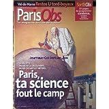 NOUVEL OBS PARIS ILE DE FRANCE (LE) [No 2060] du 29/04/2004 - VAL-DE-MARNE - RESTOS U TORD-BOYAUX - LA VILLETTE - PALAIS DE LA DECOUVERTE - MUSEE DES ARTS ET METIERS.