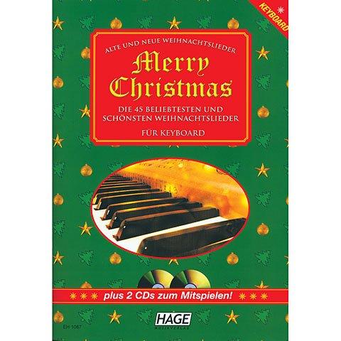 Hage Merry Christmas für Keyboard · Libro de partituras