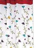 Sunlera Orchideen-Blumen-Polyester-Duschvorhang Wasserdichtes Mildew Proof Badvorhang