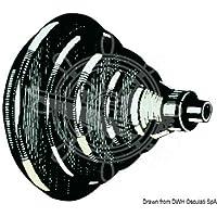 Ghiera passacavi ABS nero con soffietto English: Black ABS fairlead ring nut w. bellows