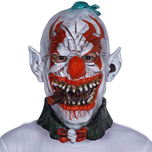 Maske aus Latex Haube Horror Rauchen Clown Maske Party Komödie Abschlussball Leistung Kostüm Requisiten ()