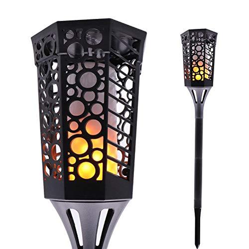 Textur Einfügen (Blase Textur Torch_Solar 96led Fisch Blase Textur Torch Outdoor Landschaft Garten Garten Dekoration einfügen 2er Pack)