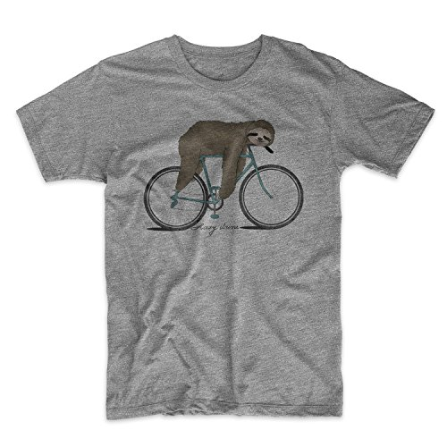 Lazy Driver Komisch Sloth Bicycle Sarcastic Herren T-Shirt Grau