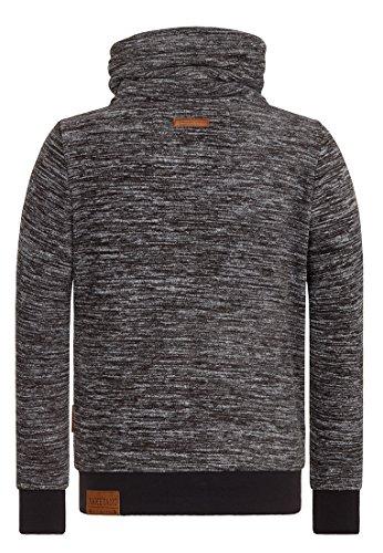 Naketano Male Zipped Jacket Der Gedudelte Anthracite Melange