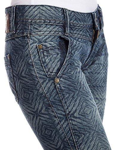 Timezone Textil Nalitz Cool - Jeans - Slim - Femme Bleu (Blue Diamond Laser 3680)