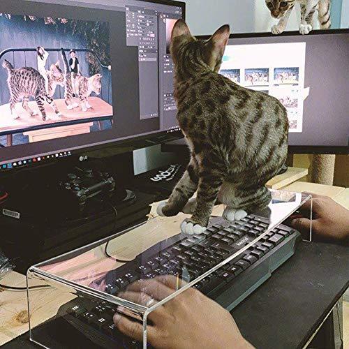 ZZQ Anti-Katze Acryl transparente Schutzhülle Schlüssel Transparente Tastatur Schutzfolie Acryl mechanische Tastaturabdeckung
