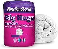 Slumberdown Big Hugs 10.5 Tog Duvet, White, King Size Bed