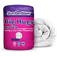 Slumberdown Big Hugs Summer Cool 4.5 Tog Duvet, White, King Size