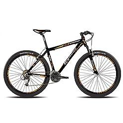 Legnano bicicletta 610 Val Gardena 29'' disco 21v taglia 50 nero arancione (MTB Ammortizzate) / bicycle Val Gardena 29'' disc 21s size 50 black orange (MTB Front suspension)