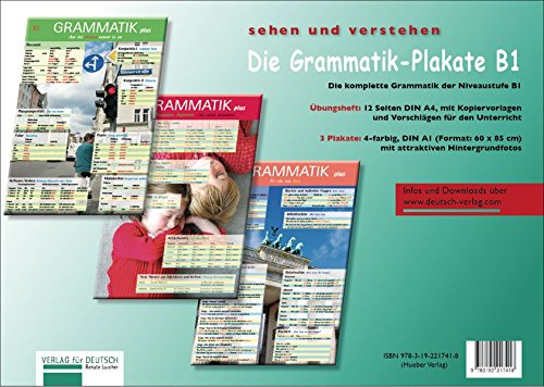 (Die Grammatik-Plakate B1: Übungsheft und 3 Plakate)