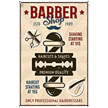 Barber Shop Sign, Metal Sign, Barber Shop signs, estilo moderno, Barber Shop