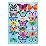 WandaufkleberWallpaper Mural Diy Decoration 3D Plastic Butterfly Pvc WaterproofS Bedroom With Heart Decoration Stickers Can Be Moved 18Pcs, C