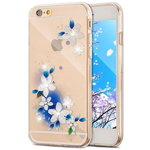 iPhone 7 Hülle Silikon,iPhone 7 Hülle Glitzer,iPhone 7 Crystal TPU Bumper Case Soft Transparent Silikon Gel Schutzhülle Cover,iPhone 7 Hülle (4.7 Zoll) Cristall,EMAXELERS iPhone 7 Bling Cristall Diama TPU 60
