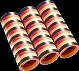 Luftschlangen, schwarz-rot-gelb, 4 m, 3er-Pack