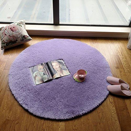 ZGP Tapis intérieur Tapis de Rangement Rond, Tapis Gris Ensemble de lit Rond Chambre à Coucher de Yoga Salon Table à café Tapis Couverture (Couleur : C, Taille : ROUND-100CM)