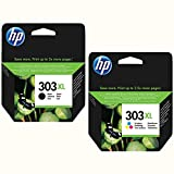 HP 303x l Lot de cartouches d'origine Noir + Color Garnissage XL pour HP Envy photo 62307100Series 713071347800Series 78307834