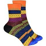 cosey - bunte Socken in Colorful Design orange (33 – 40) - 4 Paar