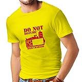 lepni.me Maglietta da uomo Carica di birra - camicie alcoliche, abiti da bar, per festa (Small Giallo Rosso)