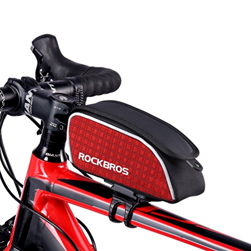 RockBros Rennrad Rahmentaschen Fahrradtasche Tragbar Fahrrad Taschen Rot