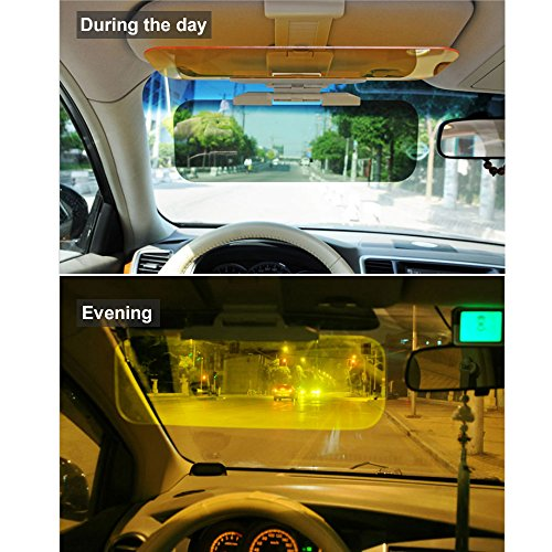 Lanlan Parasole Auto Alette Parasole Auto 2 in 1 Car Trasparente Anti-riflesso Vetro Car Sun Visor per Day Night di Guida Compleanno Regalo
